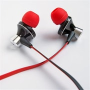 Alpatronix Ex100 Hp Universal 1-Button In Ear Headphones, Red And Black (SRTS037)