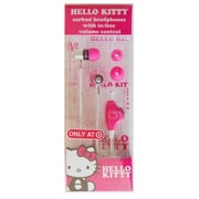 Mp3 World Hello Kitty Earbud With Case, Pink (MPWD045)