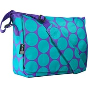 Wildkin Ashley Collection - Big Dot Aqua Kickstart Messenger Bag (WILD737)