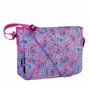 Wildkin Watercolor Ponies Pink Kickstart Messenger Bag (WILD877)