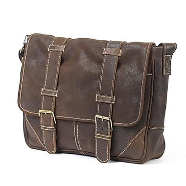 Claire Chase Sorrento Computer Messenger - Distressed Brown (CLRCS031)