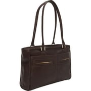 Piel Leather 3001 - CHC Ladies Laptop Tote With Pockets - Chocolate (PIEL09229)