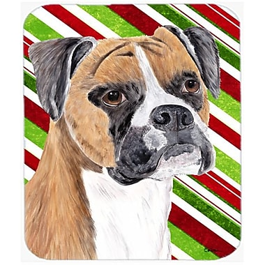Carolines Treasures Boxer Candy Cane Holiday Christmas Mouse Pad, Hot Pad or Trivet (CRLT22369)