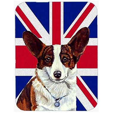 Carolines Treasures 7.75 x 9.25 In. Corgi With English Union Jack British Flag Mouse Pad, Hot Pad Or Trivet (CRLT56860)