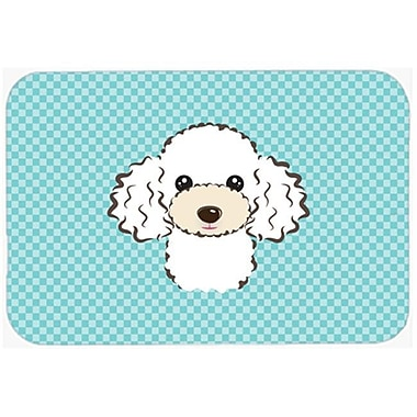 Carolines Treasures Checkerboard Blue White Poodle Mouse Pad, Hot Pad Or Trivet, 7.75 x 9.25 In. (CRLT63641)