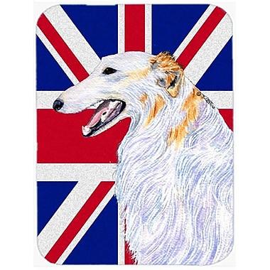 Carolines Treasures 7.75 x 9.25 In. Borzoi With English Union Jack British Flag Mouse Pad, Hot Pad Or Trivet (CRLT57258)