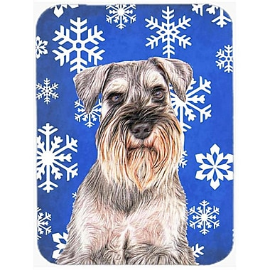 Carolines Treasures Winter Snowflakes Holiday Schnauzer Mouse Pad, Hot Pad or Trivet (CRLT60733)