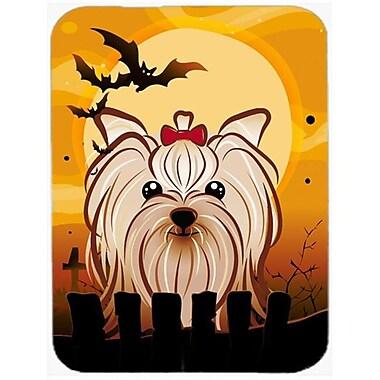 Carolines Treasures Halloween Yorkie Yorkishire Terrier Mouse Pad, Hot Pad & Trivet (CRLT85650)