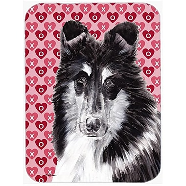 Carolines Treasures Black And White Collie Hearts And Love Mouse Pad, Hot Pad Or Trivet, 7.75 x 9.25 In. (CRLT58652)