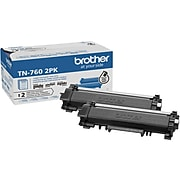 Brother TN-760 Black Toner Cartridge, High Yield, 2/Pack (TN7602PK)