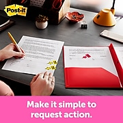 """Post-it® 'Sign Here' Message Flags, .94"""" Wide, Yellow, 200 Flags/Pack (680-HVSH)"""