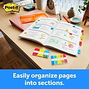 """Post-it® Tabs, 1"""" Wide, Solid, Assorted Colors, 88 Tabs/Pack (686-AYPV1IN)"""