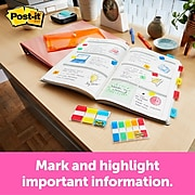 """Post-it® Flags, .47"""" x 1.7"""", Assorted Colors, 190 Flags (683-7CF)"""