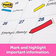 """Post-it® Arrow Flags, 0.47"""" Wide, Assorted Primary Colors, 96 Flags/Pack (684-ARR3)"""