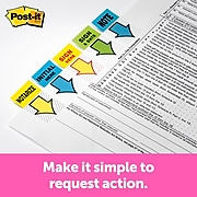 """Post-it® 'Initial Here' Message Flags,  1"""" Wide, Blue, 100 Flags/Pack (680-IH2)"""
