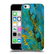 Official Haroulita Marble Yellow Teal Soft Gel Case For Apple Iphone 5C