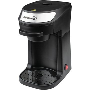 Brentwood Appliances Single Serve 12 oz Coffee Maker with Mug, Black (Ts-111bk)