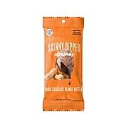 SKINNY DIPPED ALMONDS Nuts, Dark Chocolate Peanut Butter, 1.5 Oz., 10/Box (CHP002E10)