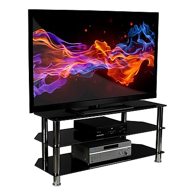 Mount-It! Glass TV Stand For Flat Screen Televisions 24056258