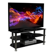 Mount-It! Glass TV Stand For Flat Screen Televisions
