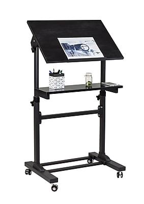 Mount-It! Mobile Portable Podium and Presentation Lectern, Height Adjustable Multi-Purpose Standing Desk Workstation (MI-7941)