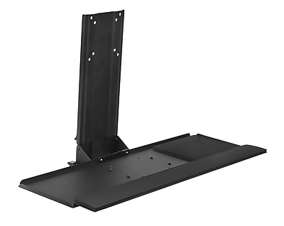 Mount-It! Monitor and Keyboard Wall Mount, Height Adjustable Standing Keyboard Tray, 25