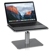 """Mount-It! 13"""" x 8"""" Steel Laptop Stand for MacBook and Laptops, Gray (MI-7272)"""