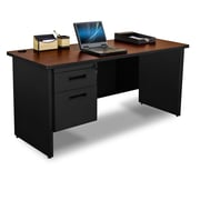 "Pronto Credenza 60"" x 24"" Single File Pedestal Mahogany/Black (762805008499)"