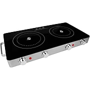 Brentwood Appliances Double Infrared Electric Countertop Burner (TS-382)
