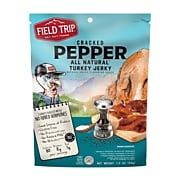 Field Trip Cracked Pepper Turkey Jerky, 1 Oz., 12/Carton (FLD00508)