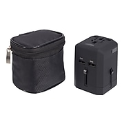 Travelway 1-Outlet Adapter Plug, Black(RQ26827)