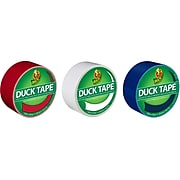 """Duck Heavy Duty Duct Tape, 1.88"""" x 20 Yds., Assorted Colors, 3 Rolls/Pack (DUCKUSA3PK-STP)"""