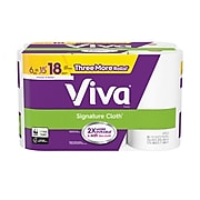 VIVA Signature Cloth Choose-A-Sheet Kitchen Rolls Paper Towels, 1-Ply, 165 Sheets/Roll, 6 Rolls/Pack (49634)
