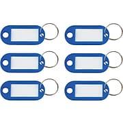 Advantus 1-Key Tags, Dark Blue, 6/Pack (KEY98019)