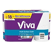 VIVA Multi-Surface Cloth Kitchen Rolls Paper Towel, 2-Ply, 165 Sheets/Roll, 6 Rolls/Pack (KC50777)