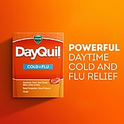 Vicks DayQuil Cold & Flu Multi-Symptom Relief LiquiCaps, 16 Count (01442)