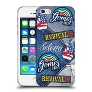 Official Selena Gomez Revival Art Patches Soft Gel Case For Apple Iphone 5 / 5S / Se