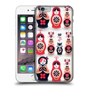 Official Cat Coquillette Watercolour Illustrations Russian Nesting Dolls Pink Navy Hard Back Case For Apple Iphone 6 / 6S