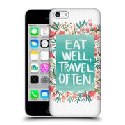 Official Cat Coquillette Quotes Typography 3 Eat Well Travel Often White Hard Back Case For Apple Iphone 5C