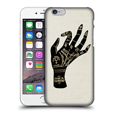 Official Cat Coquillette Watercolour Illustrations Palmistry Black Hard Back Case For Apple Iphone 6 / 6S