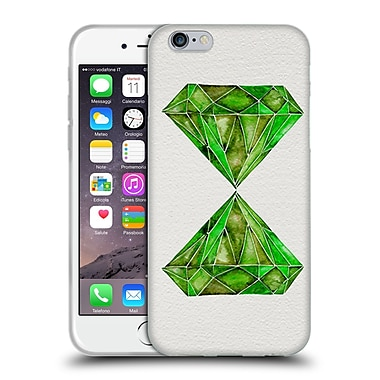 Official Cat Coquillette Watercoloured Gems Peridot Soft Gel Case For Apple Iphone 6 / 6S