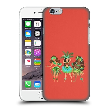 Official Cat Coquillette Watercolour Illustrations Luau Girls Coral Hard Back Case For Apple Iphone 6 / 6S