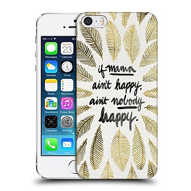 Official Cat Coquillette Quotes Typography 1 If Mama Ain'T Happy Gold Hard Back Case For Apple Iphone 5 / 5S / Se