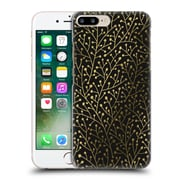Official Cat Coquillette Patterns Berry Branches Black Gold Hard Back Case For Apple Iphone 7 Plus
