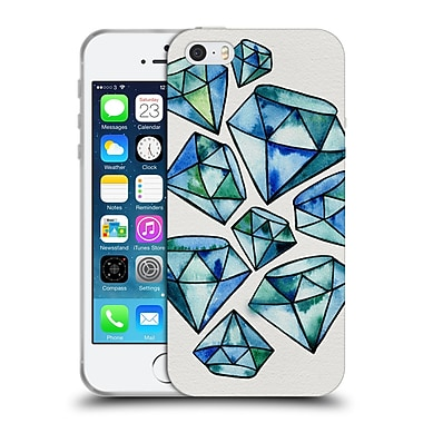 Official Cat Coquillette Watercoloured Gems Sapphire Tattoos Soft Gel Case For Apple Iphone 5 / 5S / Se