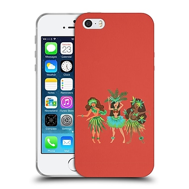 Official Cat Coquillette Watercolour Illustrations Luau Girls Coral Soft Gel Case For Apple Iphone 5 / 5S / Se