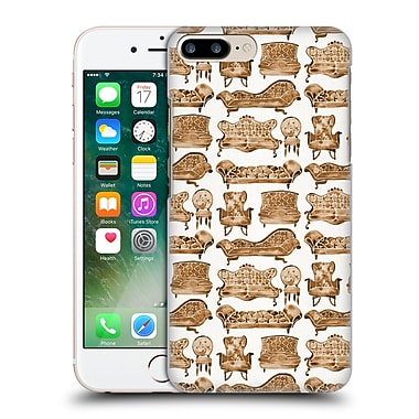 Official Cat Coquillette Patterns 2 Sepia Victorian Lounge Hard Back Case For Apple Iphone 7 Plus