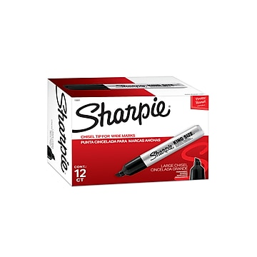 Sharpie Pro King Size Permanent Marker, Chisel Point, Black, Dozen (15001DZ)
