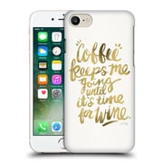 Official Cat Coquillette Quotes Typography 3 Coffee & Wine Gold Hard Back Case For Apple Iphone 7