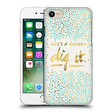 Official Cat Coquillette Quotes Typography 2 Dig It Turquoise Hard Back Case For Apple Iphone 7
